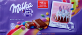Happy Birthday, Milka! Bunte Kakaolinsen